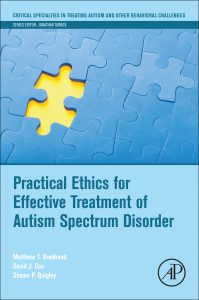 A cover of Practical Ethics for Effective Treatment of ASD that you can click on to purchase that book